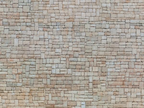 H0 Kartonplatte-3D'Kalksteinmauer'beige NH2020