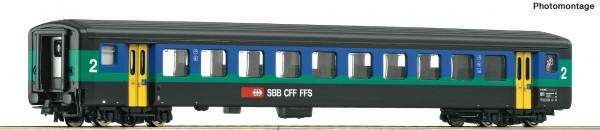 H0 EW-II Reisezugwagen 2. Kl. SBB Ep.VI blau/grün #2