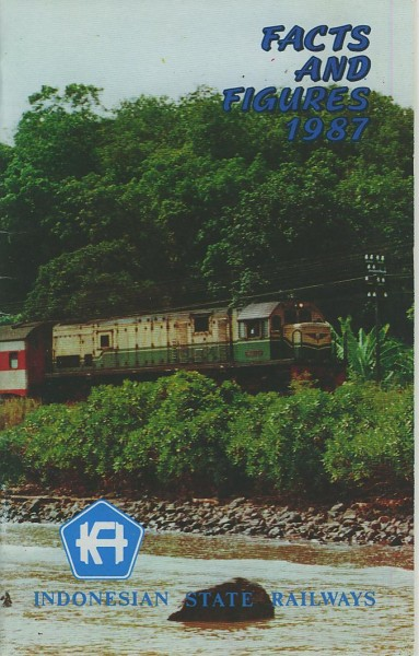 Buch Indonesian State Railways Facts and Figures - 1987