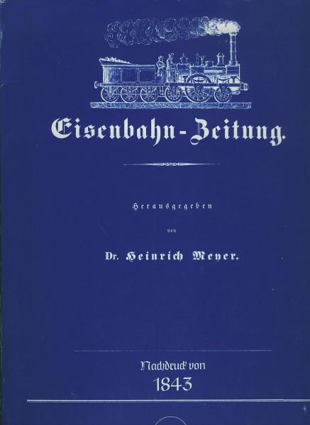 Buch Eisenbahn-Zeitung, Reprint von 1843