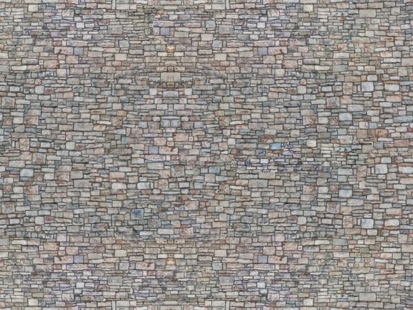 N Kartonplatte-3D'Bruchsteinmauer'bunt NH2020