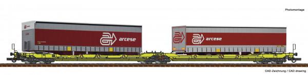 H0 Doppeltaschenwagen T3000e GATX Ep.6 +Cont. Arcese