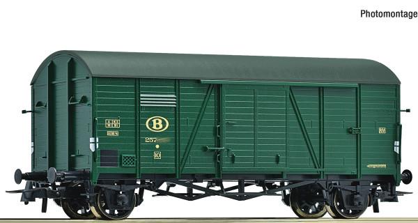 H0 Güterwagen/2-achs. ged. SNCB Ep.III grün