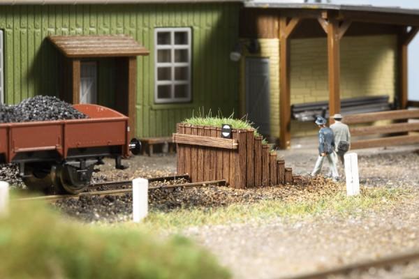 TT Kasten-Prellbock Holz begrünt