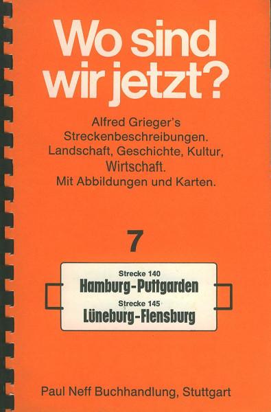 Buch Wo sind wir jetzt? 7 Strecke 140/145 Hamburg-Puttgarden Lüneburg-Flensburg