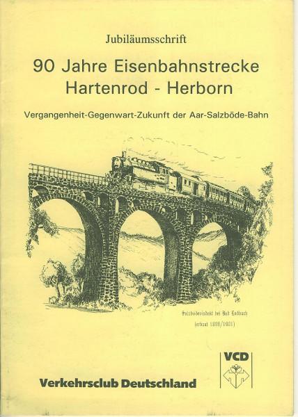 Buch 90 Jahre Eisenbahnstrecke Hartenrod-Herborn - Jubiläumsschrift