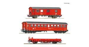 H0 Bauzugwagen-Set 3-tlg., ÖBB, Ep.4-5, DC