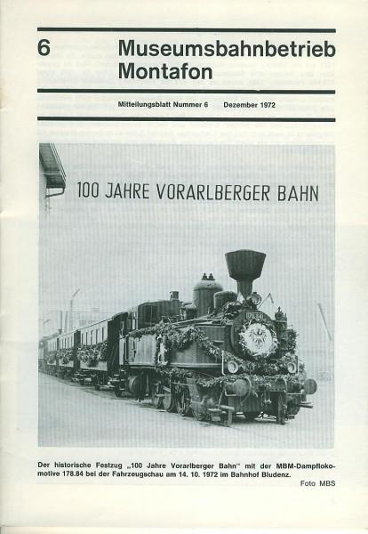 Buch Museumsbahnbetrieb Montafon No. 6 - Titelthema: 100 Jahre Vorarlberger Bahn