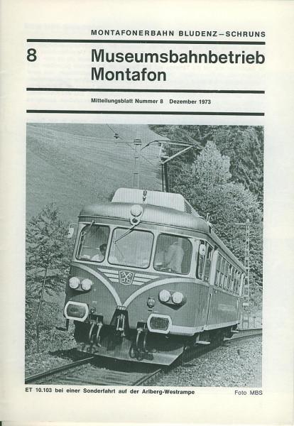 Buch Museumsbahnbetrieb Montafon No. 8 - Titelthema: MBM/MBS-Bilderbogen