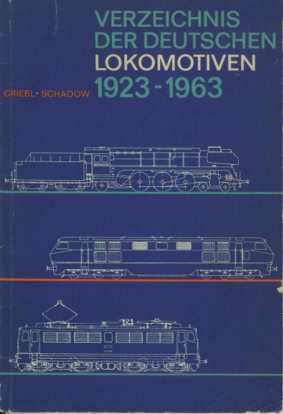Kom: Verzeichnis der Deutschen Lokomotiven 1923-1963