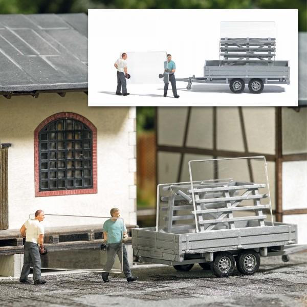 87 Action-Set: Fensterbauer/Glastransport