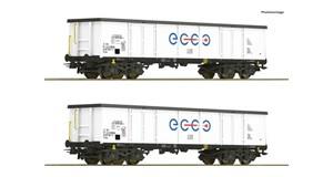 H0 Offene Güterwagen-Set 2-tlg., Ecco Rail, Ep.6, DC