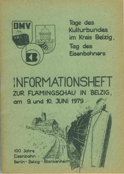 Buch 100 Jahre Eisenbahn Berlin-Belzig-Blankenheim - Flämingschau Belzig 1979